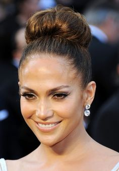 Jennifer Lopez Formal Bun Hairstyle for Long Hair | Hairstyles Weekly