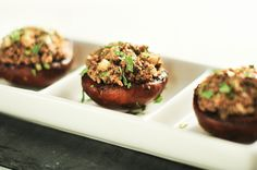 Stuffed Mushrooms - Mushrooms, Olive Oil, Nama Shoyu or Coconut Aminos (for SCD), Agave or Honey (for SCD), Pumpkin Seeds, Sunflower Seeds, Garlic, Shallot, Parsley, Tarragon, Thyme, Sea Salt, Pepper - SCD Legal, Grain Free, Gluten Free, GAPS, Paleo, Raw Vegan