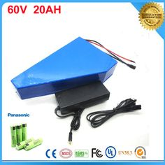 Triangle ebike lithium battery 60v 20ah lithium ion bicycle battery 60v electric scooter battery for bike For Panasonic cell