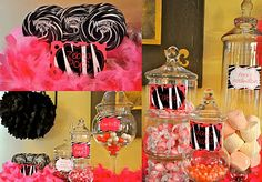 Candy bar so cute pink, black, and white