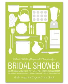Kitchenware Invitations - PaperSnaps (
