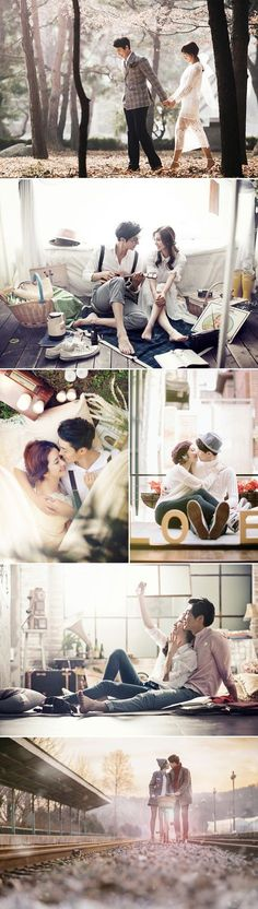 "I like the ""everyday"" coziness of these pictures. Hike, living room, picnic, walk around quaint part if town, etc Real Life K-Drama 30 Dreamy Korean Concept Pre-wedding Photos! Pre Wedding Photoshoot, Wedding Poses, Wedding Shoot, Wedding Ideas, Photoshoot Ideas, Wedding Ceremony, Couple Photography, Photography Poses, Wedding Photography"