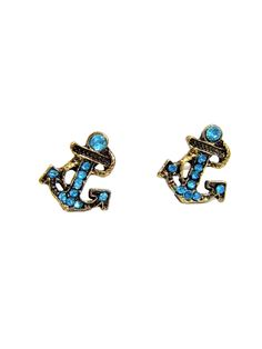 Rover Style Alloy Stud-Blue&Gold