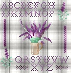 alphabet lavender chart
