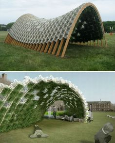 Milk Crate and plant Pavilion
