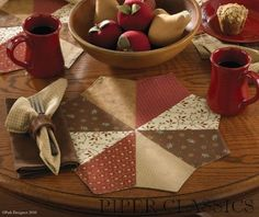 Free Quilted Placemat Patterns | Grandma's Quilt | Round Placemat | Piper Classics