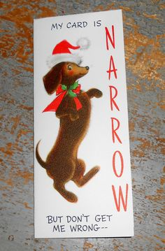 Vintage Cards Christmas Wiener Dog Hallmark Cute by TheBackShak