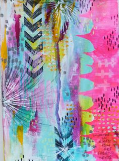 Art journal page by Rae Missigman - DLP 2015 a year in review