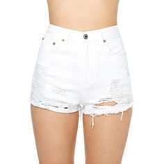 White Lightning Cutoff Shorts ($25) ❤ liked on Polyvore featuring shorts, bottoms, pants, short, distressed shorts, ripped shorts, zipper shorts, cotton shorts and zip shorts
