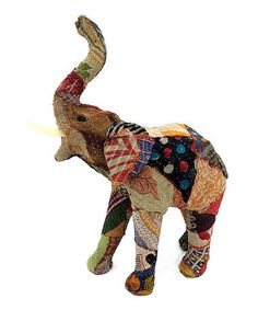 Another great find on #zulily! Sari Fabric-Wrapped Elephant Statue #zulilyfinds