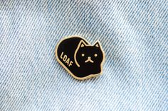 Loaf Cat Enamel Lapel Pin by EverydayOlive on Etsy Jacket Pins, Cat Pin, Cool Pins, Cat Jewelry, Pin And Patches, Hard Enamel Pin, Metal Pins, Kawaii, Pin Badges