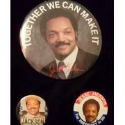 Jesse Jackson campaign buttons.