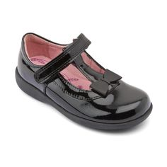 17c3ddc638e2c Alpha, Black Patent Girls Riptape School Shoes - All Girls' styles - Girls  Shoes