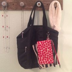 Black Tote with Black and Red Travel Bags Excellent condition, used once or twice. Bath & Body Works Bags Totes