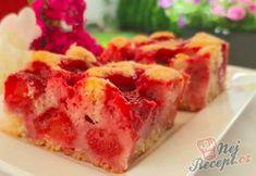 Jahodová bublanina | NejRecept.cz No Bake Cake, Ham, Mashed Potatoes, Sushi, Food And Drink, Cooking, Ethnic Recipes, Whipped Potatoes, Kitchen