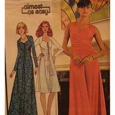 1970s Shirred Front Dress Pattern Yoke by VogueVixens on Etsy, $14.00