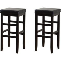 Hutto 24-inch Counter Height Square Stools (Set of 2) | Overstock™ Shopping - Great Deals on Jensen Bar Stools