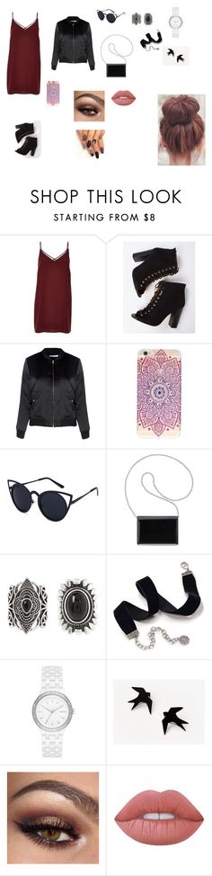 """Sem título #10"" by laurenmello-473 on Polyvore featuring moda, River Island, Glamorous, Nine West, New Look, Sweet Romance, DKNY e Lime Crime"