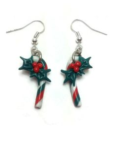 Christmas Earrings Christmas Gifts Candy Jewelry by JosCreationsGR