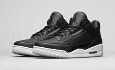 59929371f447 Air Jordan Retro 3 Cyber Monday black white Cement 136064-020 Size 11.5