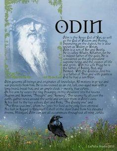 Odin - Northern God information page 1 - LaPulia Book of Shadows Norse Pagan, Old Norse, Norse Mythology, Pagan Gods, Viking Symbols, Thor, Magick Spells, Wicca, Eslava