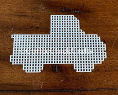 """This is for 1 PLASTIC CANVAS TRUCK. These are cut from 7-mesh Approximately : 3.5"""" H x 5.5"""" WYou can choose from any color.  Please state your choice(s) at checkout. If you are looking for other sizes please see my other listings or message me for custom order."""