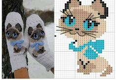 Ideas crochet kids mittens pattern for 2019 Crochet Gloves, Knit Mittens, Mitten Gloves, Knit Crochet, Baby Mittens, Kitten Mittens, Knitted Mittens Pattern, Crochet Cats, Baby Socks
