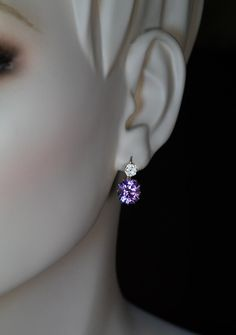 made in the city of Kazan between 1908 and 1917 Rare Siberian amethysts are usually associated with deep royal purple, although it's not always the case. Antique Earrings, Antique Jewelry, Amethyst Earrings, Gold Earrings, Gems Jewelry, Jewelery, 1950s Jewelry, Purple Love, Cushion Cut Diamonds