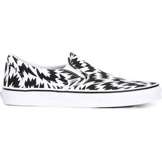 Vans Vans x Eley Kishimoto printed slip-on sneakers (355 RON) ❤ liked on Polyvore featuring shoes, sneakers, vans, black, vans trainers, black slip on sneakers, black slip-on shoes, slip-on shoes and black sneakers