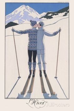 L'Hiver (Winter) Posters by Georges Barbier - AllPosters.co.uk