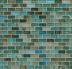 Blue glass tiling