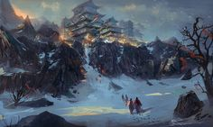The Snow, jeremy chong on ArtStation at http://www.artstation.com/artwork/the-snow-a37877ba-9cfc-4040-bb21-2243f78e9f24