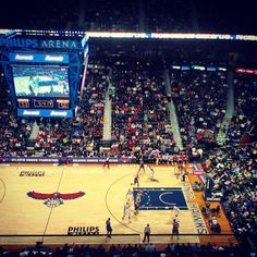 Philips Arena. Atlanta, Georgia. home of the @Atlanta Hawks