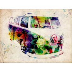 watercolour vw car - Google Search