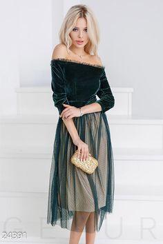 Gepur | Пышное ретро-платье арт. 24391 Цена от производителя, достоверные описание, отзывы, фото