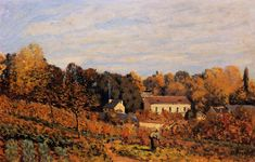 Kitchen Garden at Louveciennes, 1873, Alfred Sisley Size: 38x61 cm Medium: oil on canvas