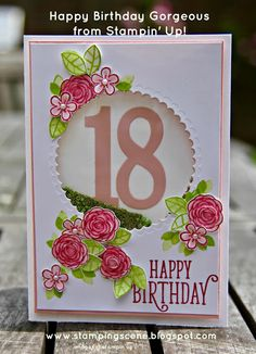 Stampin Up - Happy Birthday Gorgeous Happy Birthday Cards Handmade, 18th Birthday Cards, Homemade Birthday Cards, Birthday Diy, Greeting Cards Handmade, Homemade Cards, Birthday Cards For Boyfriend, Birthday Cards For Women, Happy Birthday Gorgeous