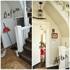 Before After of the Entryway at Creatively Living