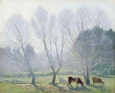 Frosty Morning - (1) de Elioth Gruner (1882-1939, New Zealand)