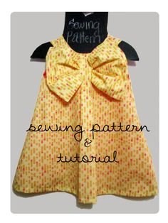 Pretty Bow dress Sewing pattern by soubelles on Etsy, $8.00