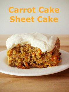 You HAVE to make Carrot Cake Sheet Cake for Easter!  It serves a crowd and is easy to make.