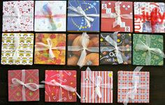 Instructions for making a folding photo album