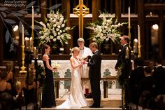 Anna and Spencer Photography, Wedding Ceremony at the Cathedral of St. Philip in Buckhead Atlanta.
