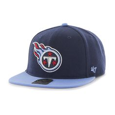 reputable site f9fcb 1ba9a Tennessee Titans Super Shot Two Tone Captain Light Navy 47 Brand Adjustable  Hat