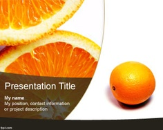 Orange PowerPoint template is a free orange fruit template for Microsoft PowerPoint presentations that you can use to create nature presentations in PowerPoint