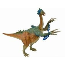 """Each of the Collecta deluxe models comes with a little plastic palaeontologist know as """"Sir Arthur Gauge"""".  Sir Arthur comes complete with pickaxe and binoculars and provides scale for each model.  This really allows the size of the Therizinosaurus to be appreciated.  Each prehistoric figure in the CollectA collection has been approved by archeologist Anthony Beeson, a well-respected expert in paleoimagery. All CollectA models are individually hand crafted to the highest standards and made…"""