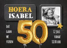 Uitnodiging 50 jaar Ballon - SG, verkrijgbaar bij #kaartje2go voor € 0,99