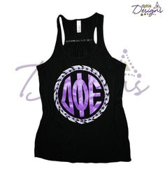 DPhiE Designs Black Feather Racerback Tank, one of our favorites!