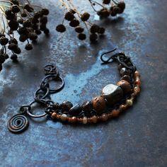 Brown charm bracelet choose your charm: solarcross by solekoru