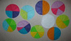 Felt Fraction Circles Fractions Fun  Choose by funandsimplefelt, $10.00